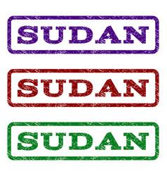 Sudan watermark stamp vector