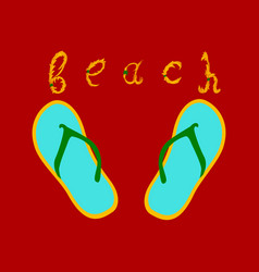 summer time holiday typographic on vintage vector image