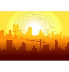 sunrise in town vector image