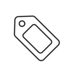 tag line icon on a white background ai vector image