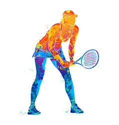 Tennis player silhouette vector