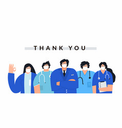 Thank you healthcare professionals banner template vector
