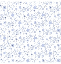Tiny flowers pattern vintage seamless vector