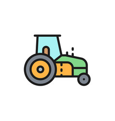 tractor agrimotor heavy agricultural machinery vector image