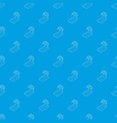 treadmill running pattern seamless blue vector image
