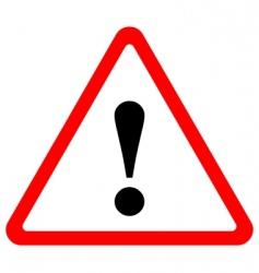 triangular warning sign vector image