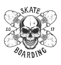 vintage skateboarding logo vector image