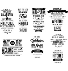 Wedding Invite designs vector image