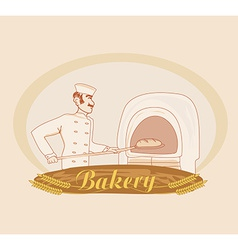 hand drawn of baker vector image