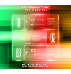 Infographic Layout with glass panels an high tech vector image