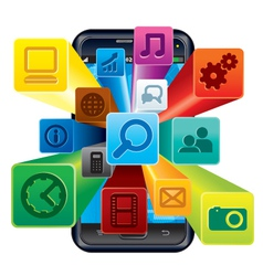 Phone Apps vector image vector image
