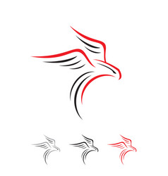 simple inspiring eagle falcon bird shillouette vector image