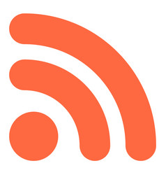 wi-fi signal icon or rss sign button vector image vector image