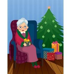 christmas gift for grandma vector image vector image