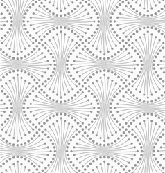 Dotted spools with lines vector image vector image