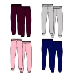 Girls trousers Color vector image vector image