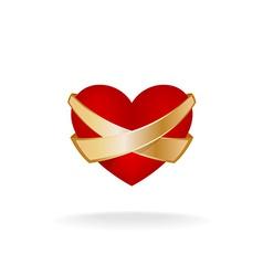 Heart care logo vector image vector image