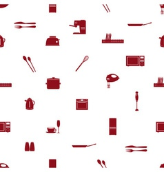 kitchen icon pattern eps10 vector image vector image