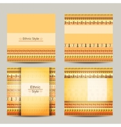 Set of cards with ethnic african design Geometric vector image vector image