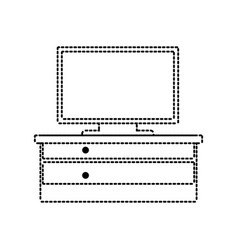 computer and desk icon vector image vector image