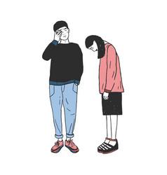 concept of divorce crack in relationshipsfamily vector image