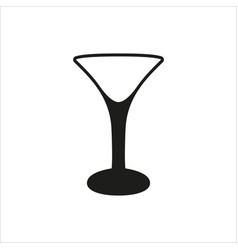 empty transparent martini glass cup icon vector image