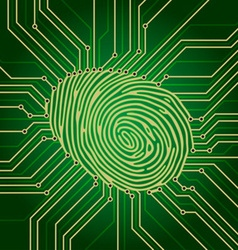 fingerprint electronics vector image