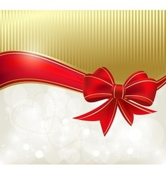 Red ribbon on the color background vector image