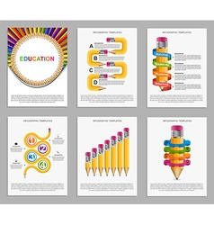 Set infographics for education brochures and vector