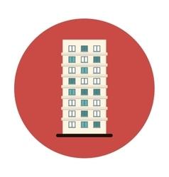 Symbol apartment building line sticker vector