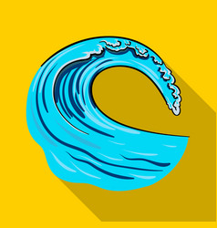 wave icon in flate style isolated on white vector image