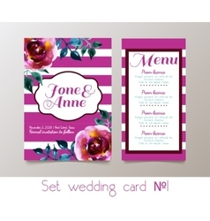 A set weddings invitation vector image