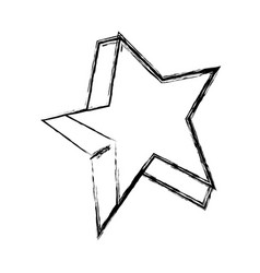 figure cute bright star art design vector image vector image