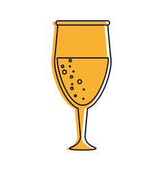 glass of champagne icon image vector image vector image
