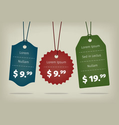 Realistic EPS10 hanging cardboard pricing vector image