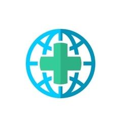World globe medical travel insurance logo vector image vector image