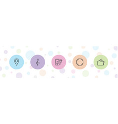 5 3d icons vector