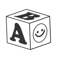ABC blocks toy icon vector