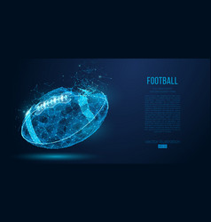 Abstract american football ball rugby vector
