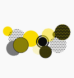 abstract black and yellow geometric shape pattern vector image