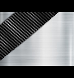 abstract metallic frame carbon kevlar texture on vector image