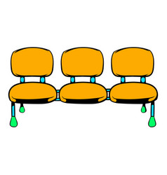 Airport seats icon icon cartoon vector
