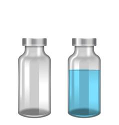 Ampoules ampoule medical glass bottles photo vector