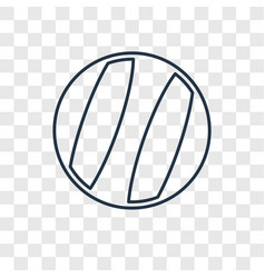 beach ball concept linear icon isolated on vector image