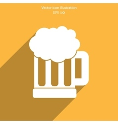 beer mug web icon vector image
