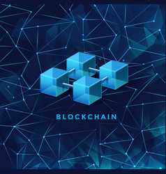 Blockchain technology concept block chain database vector