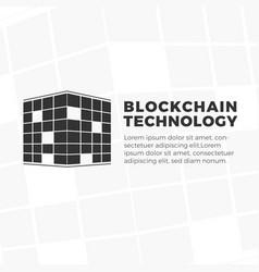 Blockchain technology logo vector