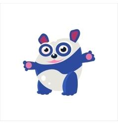 Blue panda bear vector