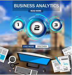 Business analytics infograph template with vector