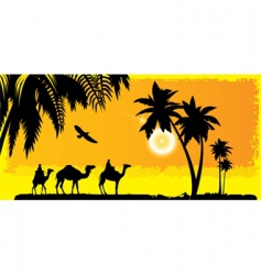 camels vector image
